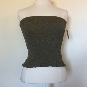 Free People Olive Tube Top (M) NWT